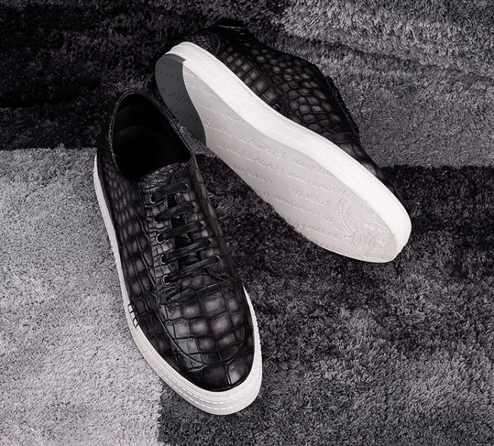 Alligator Sneakers Casual Alligator Shoes-1