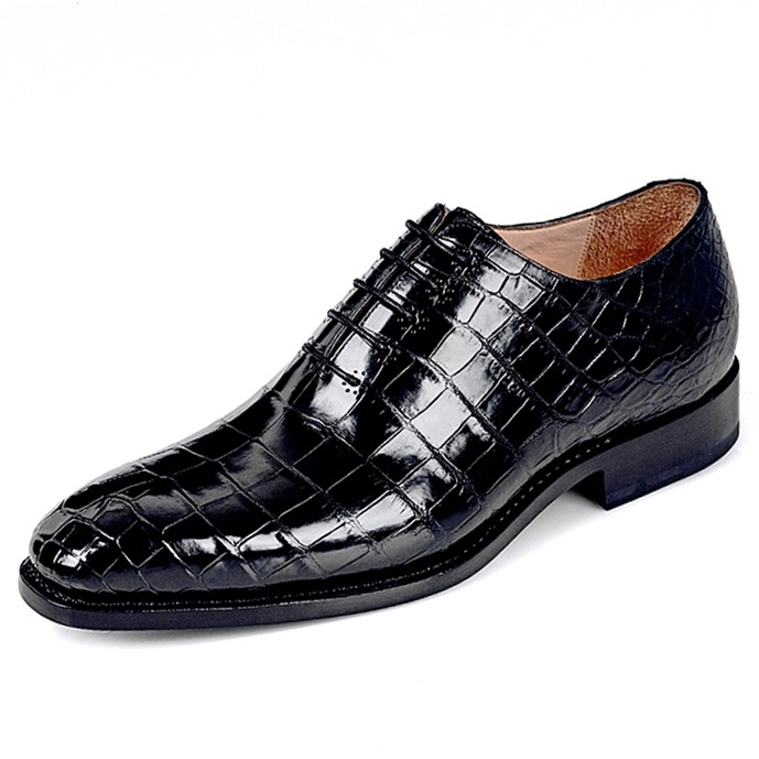 Alligator Wholecut Oxfords Leather Sole Goodyear Welted Dress Shoes