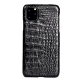 Crocodile & Alligator Leather Snap-on Case for iPhone 11 Pro, 11 Pro Max - Black - Belly Skin
