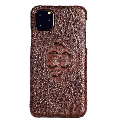 Crocodile & Alligator Leather Snap-on Case for iPhone 11 Pro, 11 Pro Max - Brown - Hornback Skin