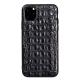 Crocodile & Alligator iPhone 11 Pro, 11 Pro Max Cases with Full Soft TPU Edges - Black - Backbone Skin