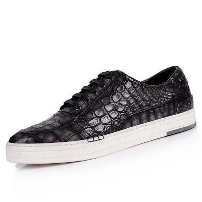 Designer Alligator Sneakers Casual Alligator Shoes for Men