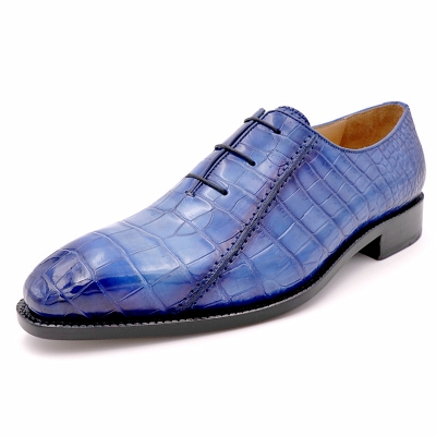 Fashion Alligator Leather Wholecut Oxford Shoes for Men