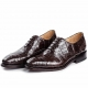 Formal Alligator Cap-Toe Lace-up Oxford Dress Shoes-Brown