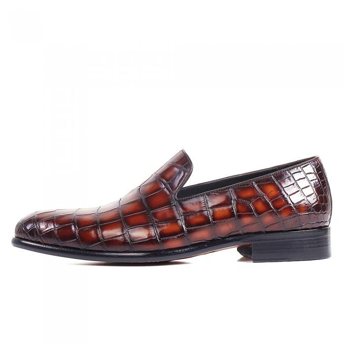 Handcrafted Alligator Leather Slip-On Loafer-Side