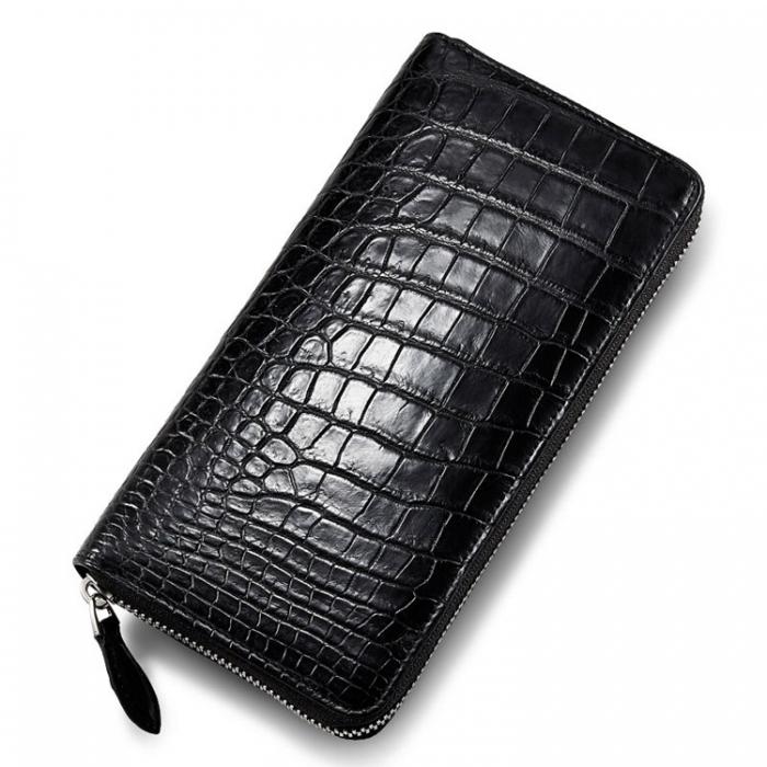 Mens Alligator Leather Long Wallet