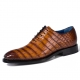 Alligator Leather Lace up Shoes Wholecut Oxford Shoes