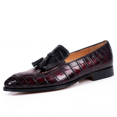 Alligator Tassel Slip-On Loafer in Goodyear Welted Construction
