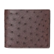 Mens Ostrich Skin Bifold Wallets - Brown