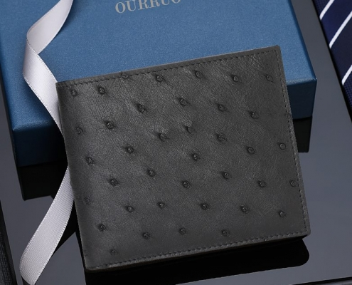OURRUO Ostrich Bifold Wallet