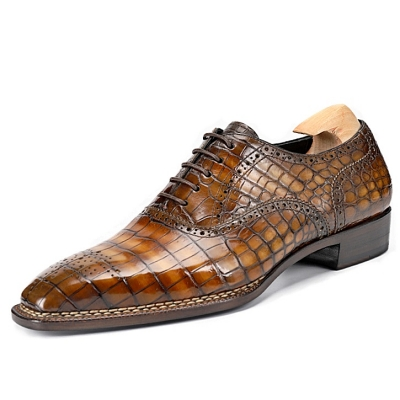 Classic Modern Alligator Leather Dress Shoes
