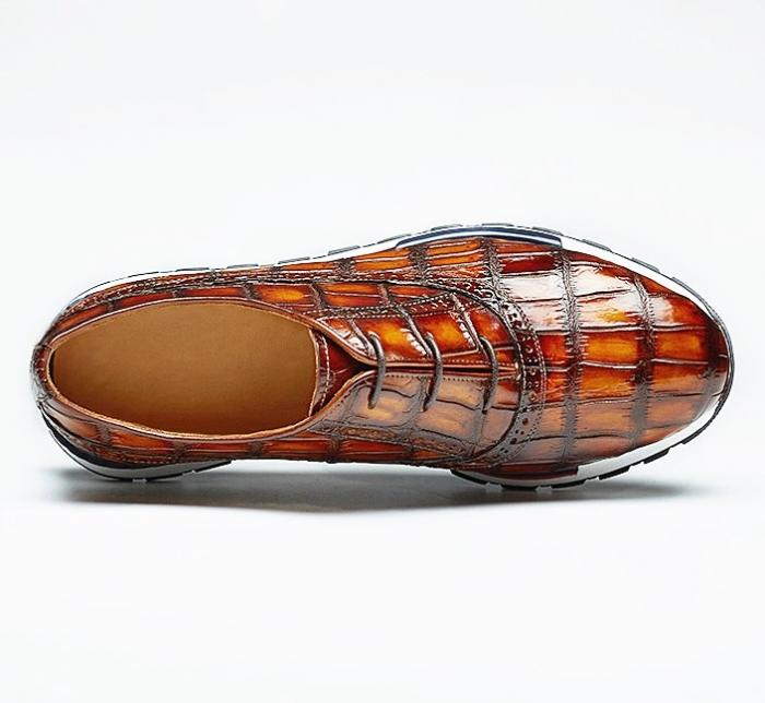 Lightweight Alligator Leather Sneaker for Men-Upper