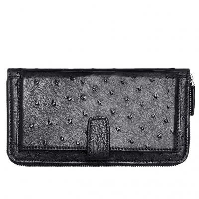 Long Ostrich Wallet Large Capacity Phone Card Slot Case