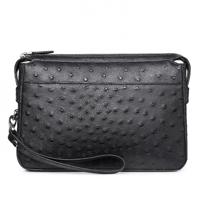 Men's Ostrich Business Clutch Wrist Bag