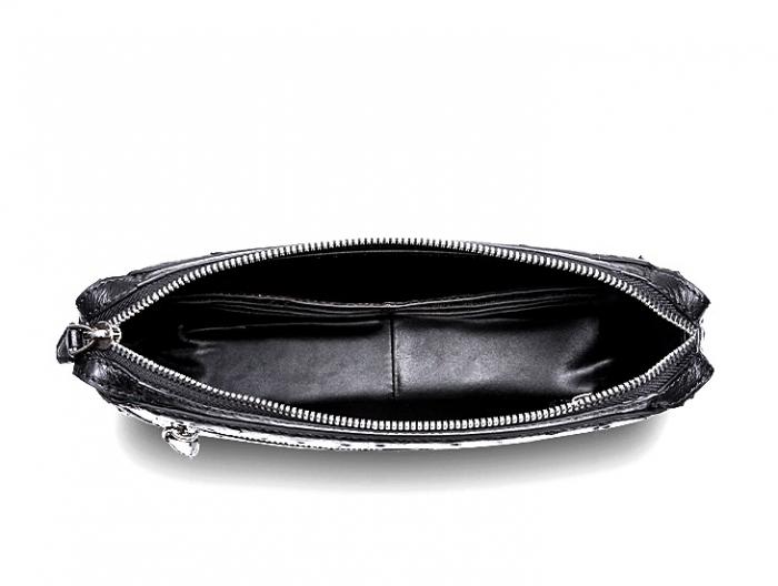 Men's Ostrich Business Clutch Wrist Bag-Lining
