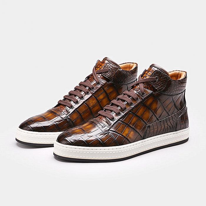 Mens Alligator Leather Chukka Sneaker-2