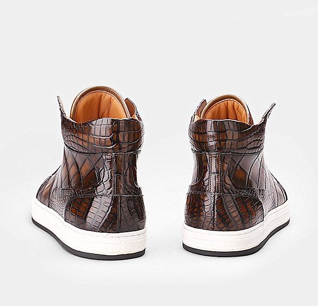 Mens Alligator Leather Chukka Sneaker-Heel