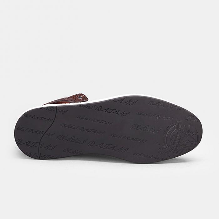 Mens Alligator Leather Chukka Sneaker-Sole