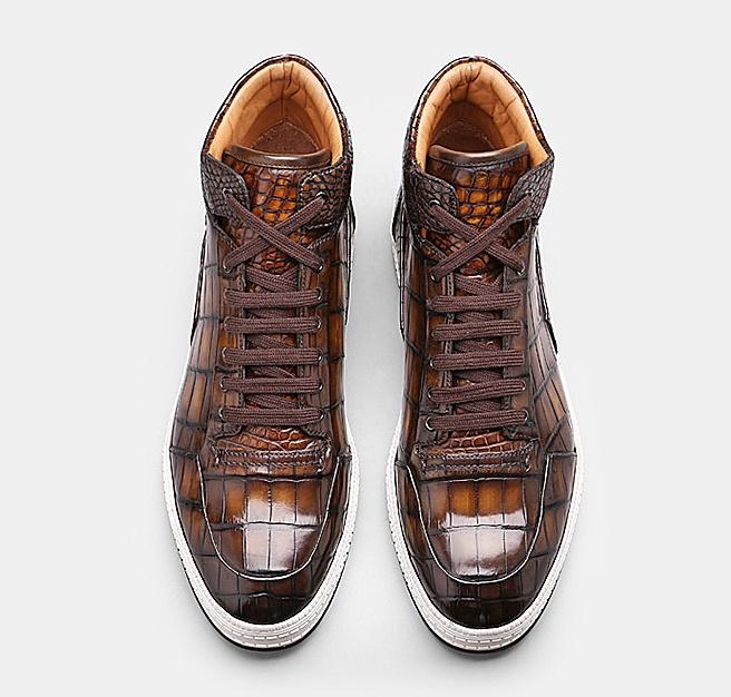 Mens Alligator Leather Chukka Sneaker-Upper