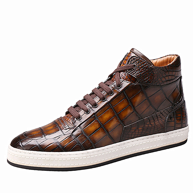 Mens Alligator Leather Chukka Sneaker