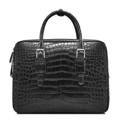 Formal Alligator Leather Briefcase Laptop Business Bag for Men