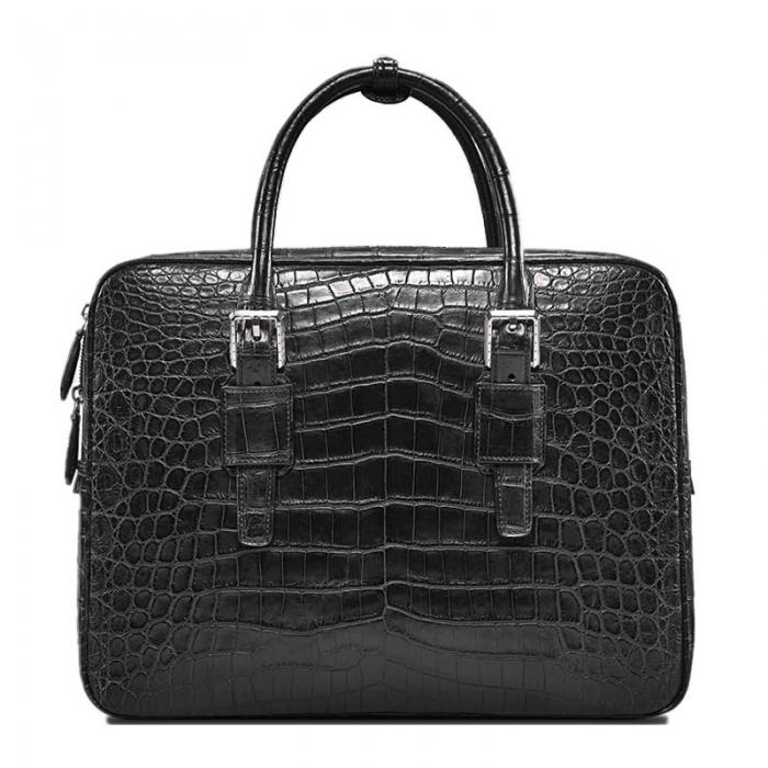 Formal Alligator Leather Briefcase Laptop Business Bag for Men