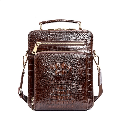 Small Crocodile Messenger Bag Crossbody Satchel Shoulder Bag