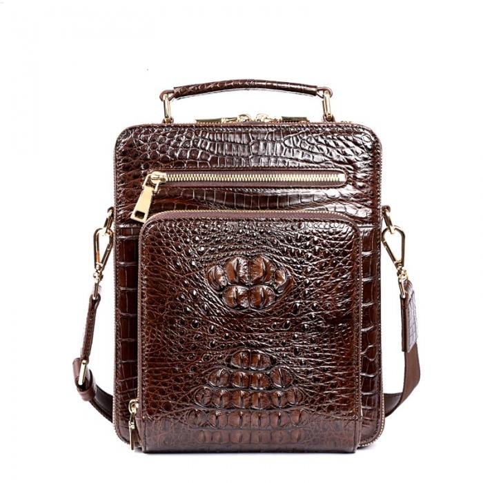 Small Crocodile Messenger Bag Crossbody Satchel Shoulder Bag