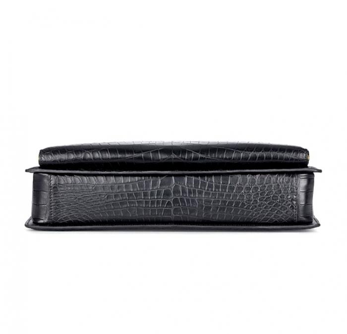Stylish Alligator Messenger Bags Laptop Briefcases for Men-Bottom