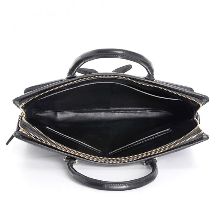 Stylish Alligator Messenger Bags Laptop Briefcases for Men-Inside