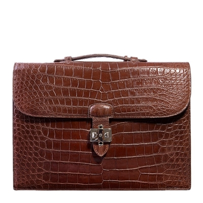 Stylish Unisex Alligator Briefcase Laptop Handbag