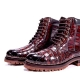 OURRUO alligator leather boots for men