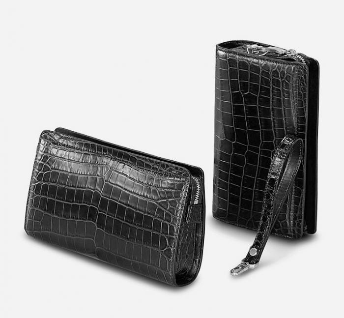 Alligator Leather Clutch Bag Organizer Purse Business Wallet-3