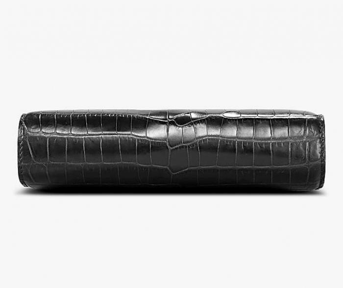 Alligator Leather Clutch Bag Organizer Purse Business Wallet-Bottom