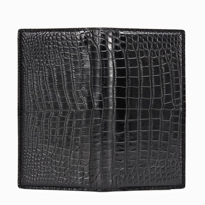 Slim Alligator Leather Bifold Wallet Card Holder-1