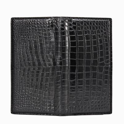 Slim Alligator Leather Bifold Wallet Card Holder-1