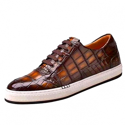 Alligator Sneakers Casual Alligator Shoes for Men