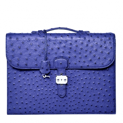 Casual Ostrich Leather Briefcase Laptop Bag