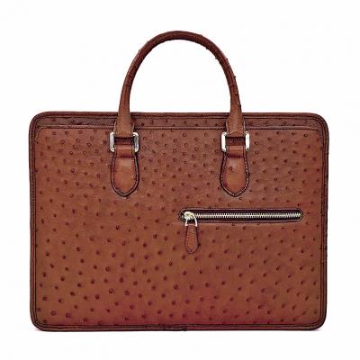Ostrich Briefcase Laptop Bag Messenger Business Bags for Men