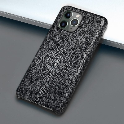 Stingray Leather iPhone 12 Pro and 12 Pro Max Cases-Gray