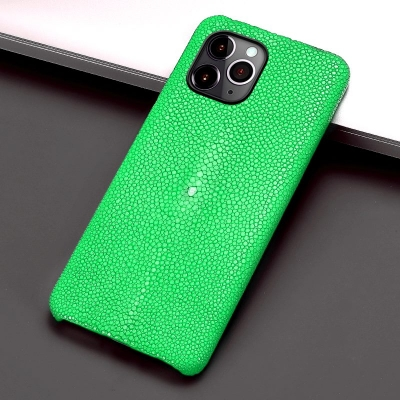 Stingray Leather iPhone 12 Pro and 12 Pro Max Cases-Green