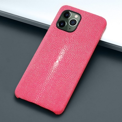 Stingray Leather iPhone 12 Pro and 12 Pro Max Cases-Pink