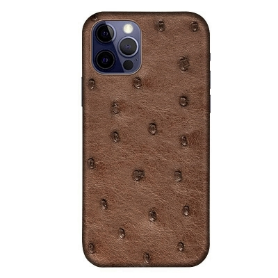 Ostrich Cases for iPhone 11, 12 Series-Brown