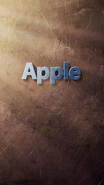 Apple Logo Art iPhone Wallpaper
