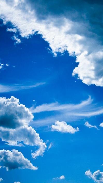 Blue Clouds-iPhone Wallpaper